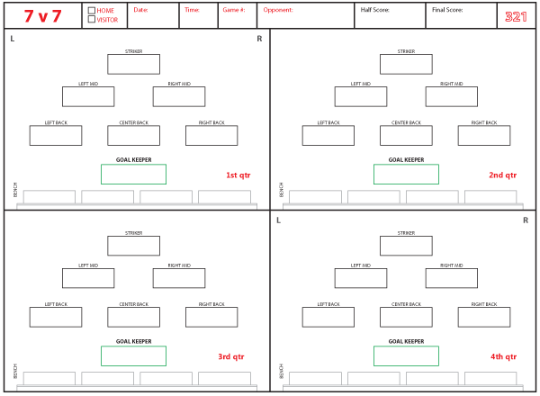 soccer team positions template soccer formations and systems as lineup sheet templates